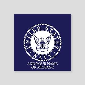 PERSONALIZED US Navy Blue White Sticker