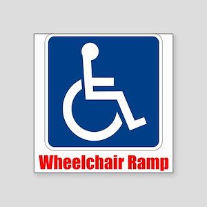 Handicapped Wheelchair Ramp Sticker