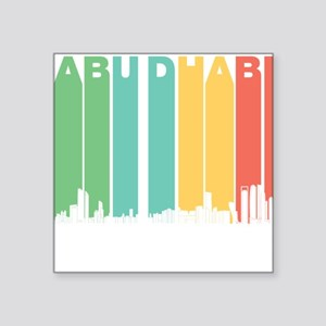 Retro Abu Dhabi Skyline Sticker