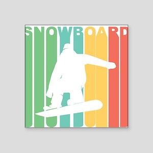 Retro Snowboard Sticker