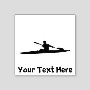 Kayaker Silhouette Sticker