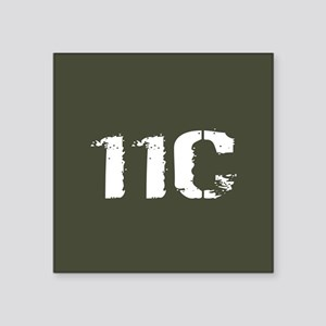 "U.S. Army: 11C Mortarman (M Square Sticker 3"" x 3"""