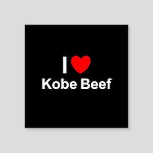 "Kobe Beef Square Sticker 3"" x 3"""