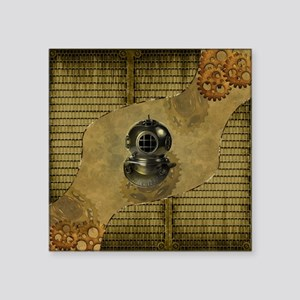 Steampunk, Diving helmet antique Sticker
