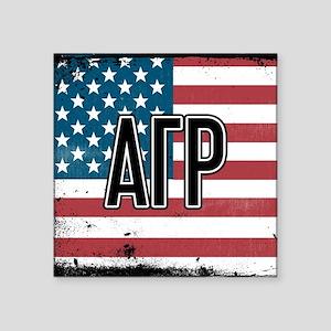 Alpha Gamma Rho Flag Sticker