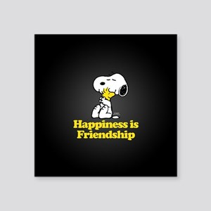 """Happiness is Friendship Square Sticker 3"""" x 3"""""""