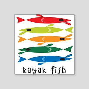 Kayak Fish Rectangle Sticker