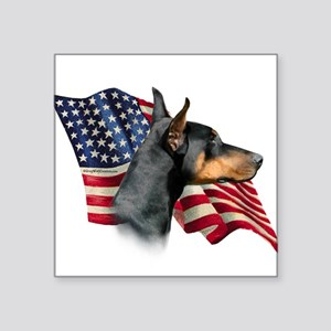 "DobermanFlag Square Sticker 3"" x 3"""