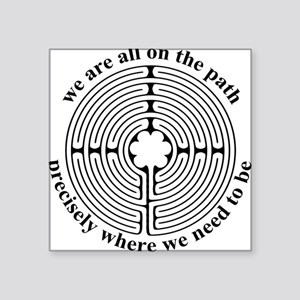 Labyrinth Oval Sticker