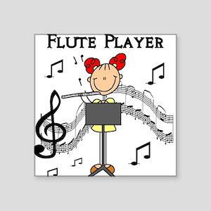 """fluteplayertee Square Sticker 3"""" x 3"""""""