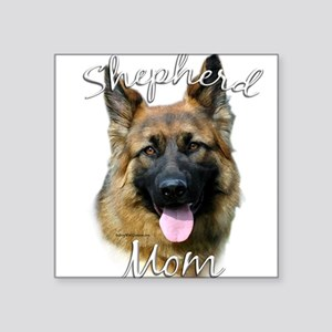 "GermanSheplonghairMom Square Sticker 3"" x 3"""