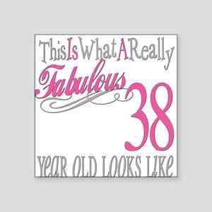 "Fabulous 38yearold Square Sticker 3"" x 3"""