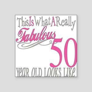 "Fabulous 50yearold Square Sticker 3"" x 3"""