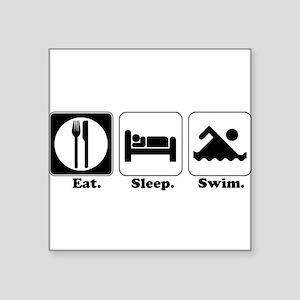 "swim Square Sticker 3"" x 3"""