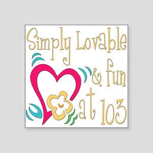 "Lovable103 Square Sticker 3"" x 3"""