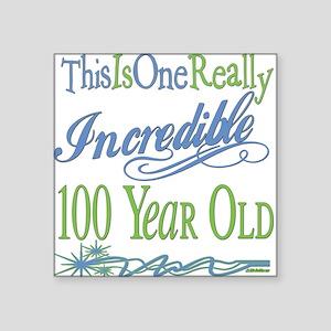 "IncredibleGreen100 copy Square Sticker 3"" x 3"""