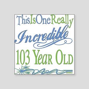 """IncredibleGreen103 Square Sticker 3"""" x 3"""""""