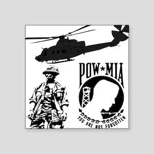 POW-MIA Black Rectangle Sticker