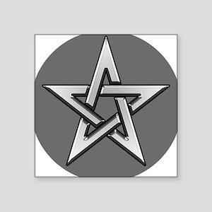 Classic Silver Pentacle Sticker