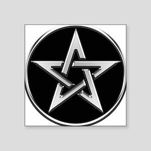 Silver Circle Pentagram Sticker