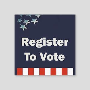 "Register to Vote Square Sticker 3"" x 3"""