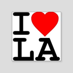 I Love LA Rectangle Sticker