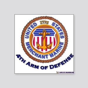 4th Arm of Defense Rectangle Sticker