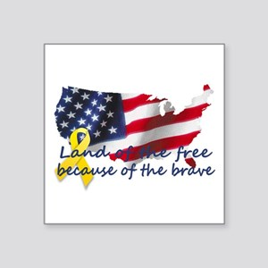 Land of the free ... Rectangle Sticker