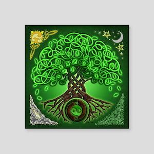 "Circle Celtic Tree of Life Square Sticker 3"" x 3"""