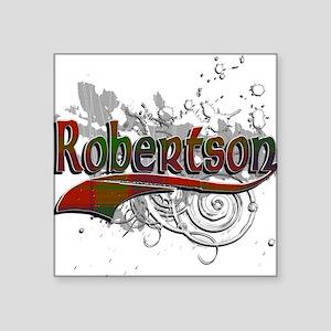 "Robertson Tartan Grunge Square Sticker 3"" x 3"""
