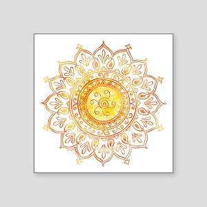 """Decorative Sun Square Sticker 3"""" x 3"""""""