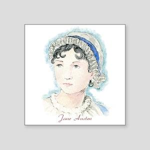 "Jane Austen Painting Square Sticker 3"" x 3"""