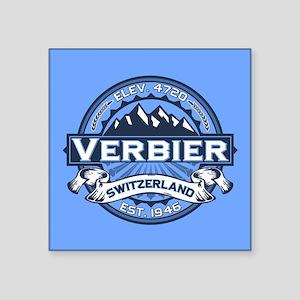 "Verbier Blue Square Sticker 3"" x 3"""