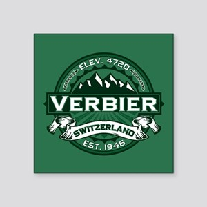 "Verbier Forest Square Sticker 3"" x 3"""