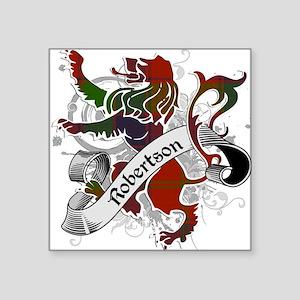 """Robertson Tartan Lion Square Sticker 3"""" x 3"""""""
