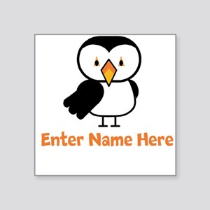"Personalized Puffin Square Sticker 3"" x 3"""
