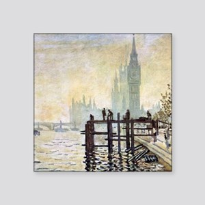 Claude Monet Westminster Bridge Square Sticker 3""