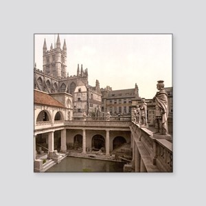 "Roman Baths and Abbey Square Sticker 3"" x 3"""