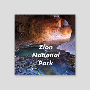 "Zion National Park Square Sticker 3"" x 3"""