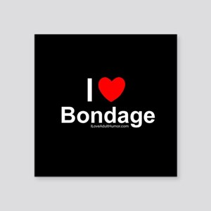 "Bondage Square Sticker 3"" x 3"""