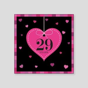 """29th Anniversary Heart Square Sticker 3"""" x 3"""""""