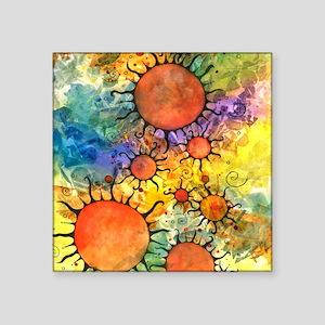 """Primordial Suns 2 Square Sticker 3"""" x 3"""""""