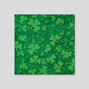 "Shamrock Pattern Square Sticker 3"" x 3"""