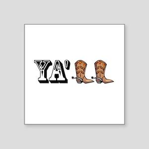Yall Boot Sticker