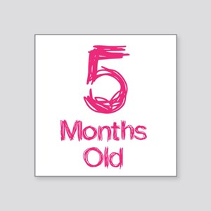 5 Months Old Baby Milestones Sticker