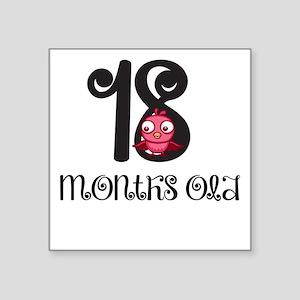 18 Months Old Baby Bird Sticker