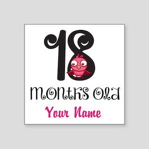 18 Months Old Baby Bird - Personalized Sticker
