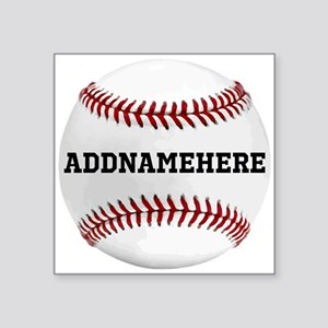 Personalized Baseball Red/White Sticker