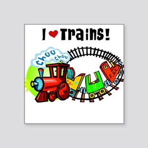 I Love Trains Sticker
