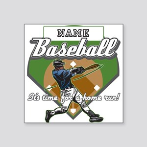 "Personalized Home Run Time Square Sticker 3"" x 3"""